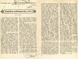 První dvojstrana textu.