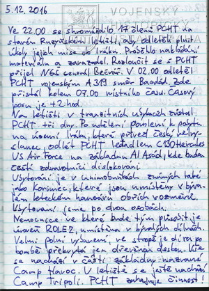 Kronika 1. úkolového uskupení PCHT, Irák