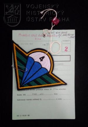 Rukávový znak 4. brigády rychlého nasazení, 1995