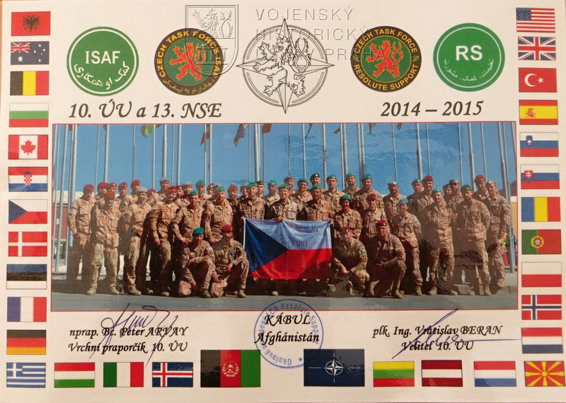 Státní vlajka České republiky od 13. jednotky NSE