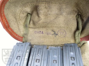 Brašna na zásobníky samopalu vz. 58 – 1. provedení