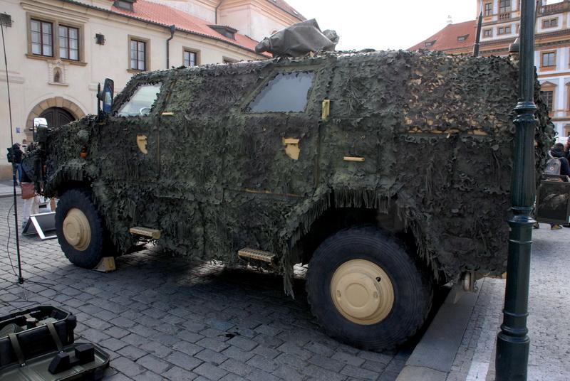 Z prezentační akce Armády České republiky na Hradčanském náměstí, 12. března 2019.
