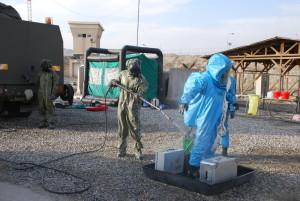 Protichemická jednotka vybavená i prostředky dekontaminace osob a materiálu v případě napadení biologickými, či chemickými zbraněmi nebo průmyslové havárie na základně, či v okolí hlavního města Kábulu.