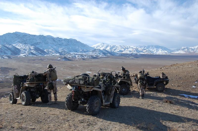 U 601. skupiny speciálních sil si v krátké době získaly velkou popularitu bojové čtyřkolky ATV od firmy Bombardier Can-Am, které jednotka používala především jako rychlá průzkumná vozidla
