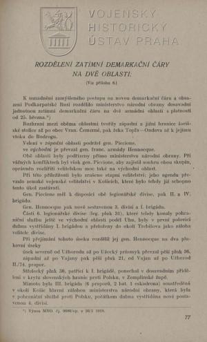 Ukázka textu k situaci na konci dubna 1919.