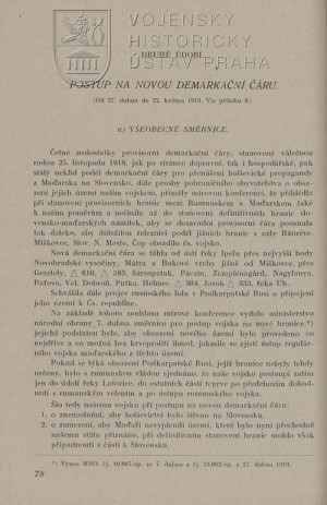 Pokračování ukázky textu k situaci na konci dubna 1919.