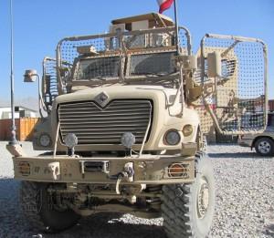 Prvek pasivní ochrany vozidel MRAP – síť Q-Net