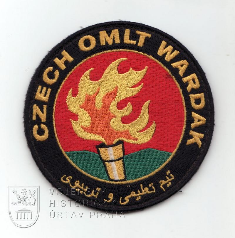 Rukávové označení příslušníků jednotky OMLT AČR ISAF v Afghánistánu