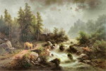 Albert Rieger, Romantická krajina, 80. léta 19. století.