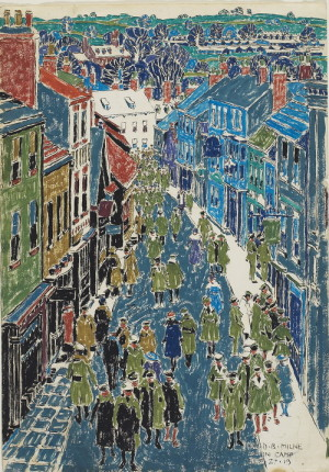 David Milne: Hlavní ulice v Riponu, akvarel na papíře, 1919. FOTO: Art Gallery of Ontario © The Estate of David Milne