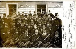 Příslušníci c. a k. pěšího pluku č. 35, léta 1908-09