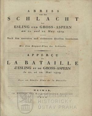 Titulní list první publikace.