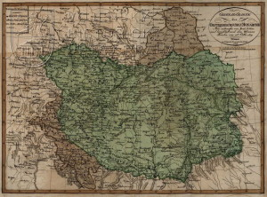 Mapka územních ztrát Rakouského císařství dle ujednání vídeňského míru.