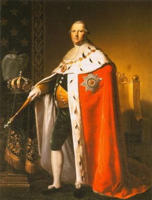 Württemberský král Fridrich I. (1754–1816) na portrétu od Johanna Baptista Seeleho.