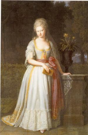 Portrét Augusty Karoliny Brunšvicko-Wolfenbüttelské (1764–1788) od neznámého autora.