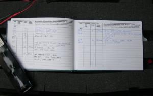 Záznamy o službě vrtulníku trupového čísla 134. FOTO: J. Sýkora