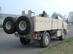 Pohled na upravenou Tatru T-815 SOT zezadu.  FOTO: VTÚ