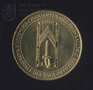 Pamětní mince francouzské Národní školy pro aktivní poddůstojníky