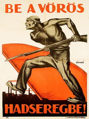 Do Rudé armády!, zní apel jednoho z dobových náborových plakátů   (Országos Széchényi Könyvtár)