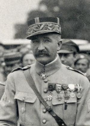 Generál Eugène D. A. Mittelhausser vystřídal italského gen. Piccioneho na postu velitele čs. západní armádní skupiny v noci z 30. na 31. května 1919. (VHÚ Praha)