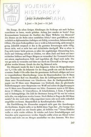 První strana textu o nasazení hesenského sboru.