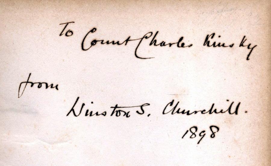 Winston Churchill a Karel Kinský v příběhu jedné knihy