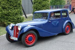 Vozidla Aero, která přijela do kbelského muzea