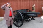 Ve Kbelích byl vystaven i pohřební kanón M. R. Štefánika