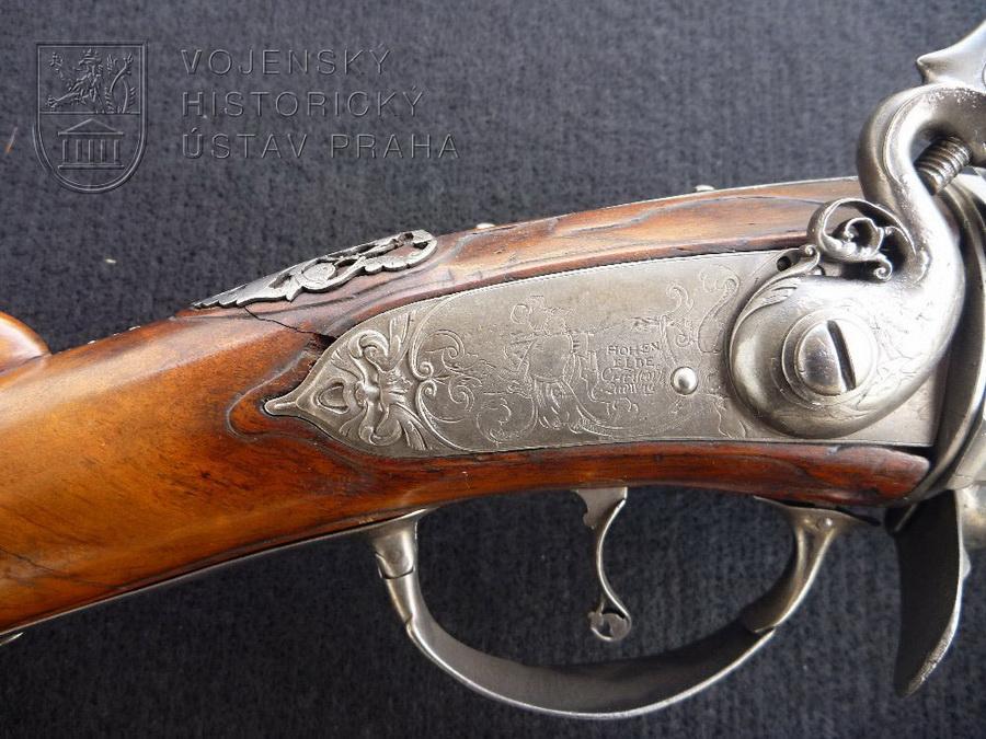 Puška revolverová s křesadlovým zámkem, Christoph Ludwig, Vrchlabí, kolem 1690