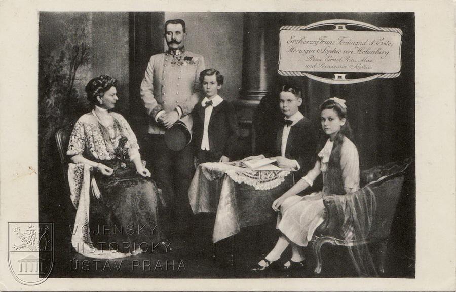 František Ferdinand d´Este s rodinou, 1912–1913.