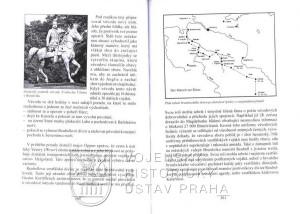 Ukázka textu s plánkem tažení brunšvického Černého sboru Německem.