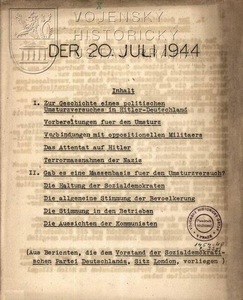 Der 20. Juli 1944.