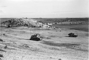 Dvojice italských stíhačů tanků Semovente L40 v severní Africe, léta 1942-43