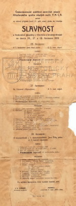 Program slavnosti u československé posádky v Irkutsku a Innokentěvské, 1919