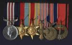 Set československých a britských pamětních odznaků a vyznamenání