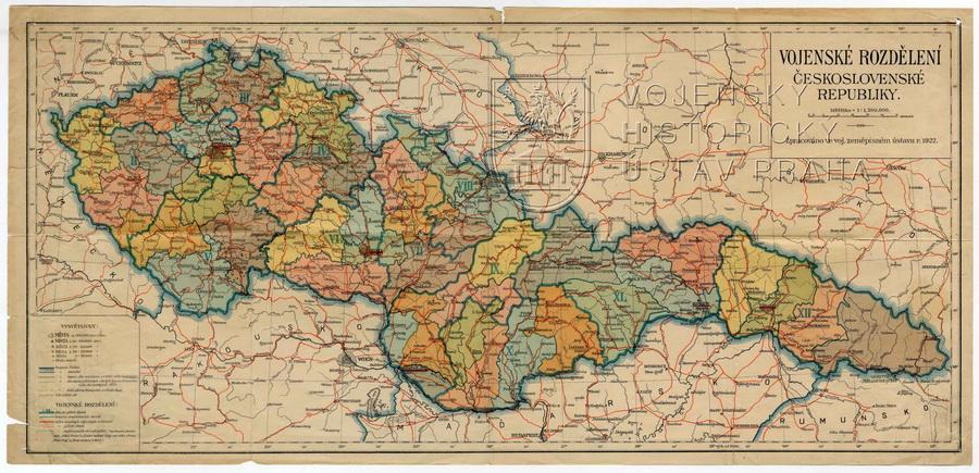 Vojenské rozdělení Československé republiky