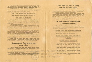 Agitační letáky Slovenské republiky rad, 1919