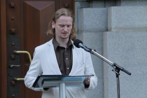 Hlavní autor výstavy, Jan Biederman z VHÚ