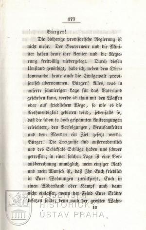 Györgyho provolání k uherským občanům, první strana.