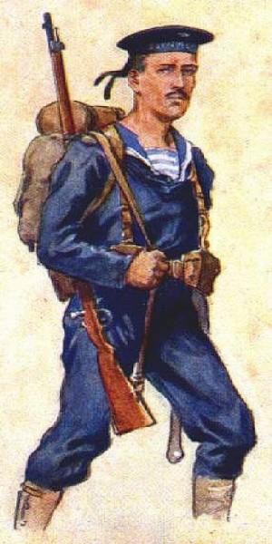 Příslušník rakousko-uherské námořní pěchoty