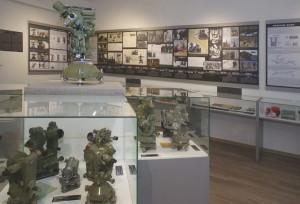 """Dobruška: Pohled na část expozice """"Vojenská geografie"""" ve Vlastivědném muzeu v Dobrušce."""