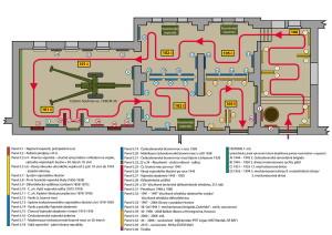 První návrh na podobu budoucí expozice posádky Hranice.