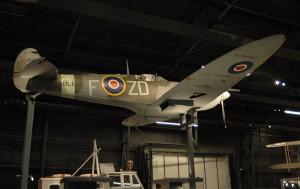Jedna z dominant nové expozice – stíhací letoun z druhé světové války Supermarine Spitfire Mk Vb. FOTO: Jaroslav Beránek