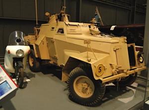 Lehký průzkumný automobil Humber Mk IIIA sloužil v RAF od roku 1943. Královské letectvo jej mj. využívalo při ochraně dobytých letišť v severozápadní Evropě. FOTO: Jaroslav Beránek