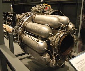 Proudový motor Power Jets W2/500. Vystavený typ byl využit v prvním tryskovém letounu RAF, jímž byl Gloster Meteor. FOTO: Jaroslav Beránek