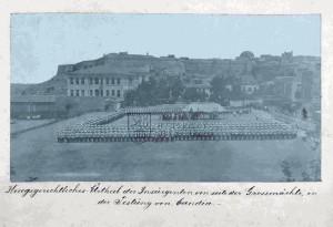 Vojenský soud se vzbouřenci, uskutečněný pod záštitou velmocí v pevnosti v Kandii na Krétě, konec devadesátých let