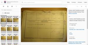 Záznamy pod písmenem M; vlevo náhledy s údaji o obětech pro rychlou orientaci