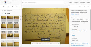 Ovládací lišta, umožňující intuitivní procházení a praktické uzpůsobení zobrazených dat (zde např. zvýrazněné tlačítko pro zobrazení na celou obrazovku)
