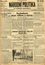 Národní politika z 1. září 1939