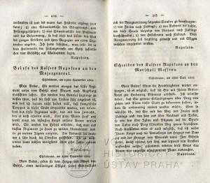 Ukázka z edice dokumentů, zde srpnový dopis Napoleona I. maršálu Massénovi, v němž plánuje další tažení do Čech v případě, že by došlo k vypovězení příměří.